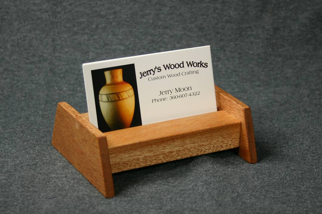 Mahogany business card display jerrys wood works jerrys wood works unique wooden goodies reheart Gallery